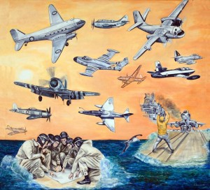Centre Painting History Aircraft