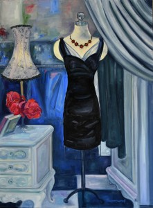 Black Dress Sydney_Irene Harmsworth_75cmx1mt_Canvas